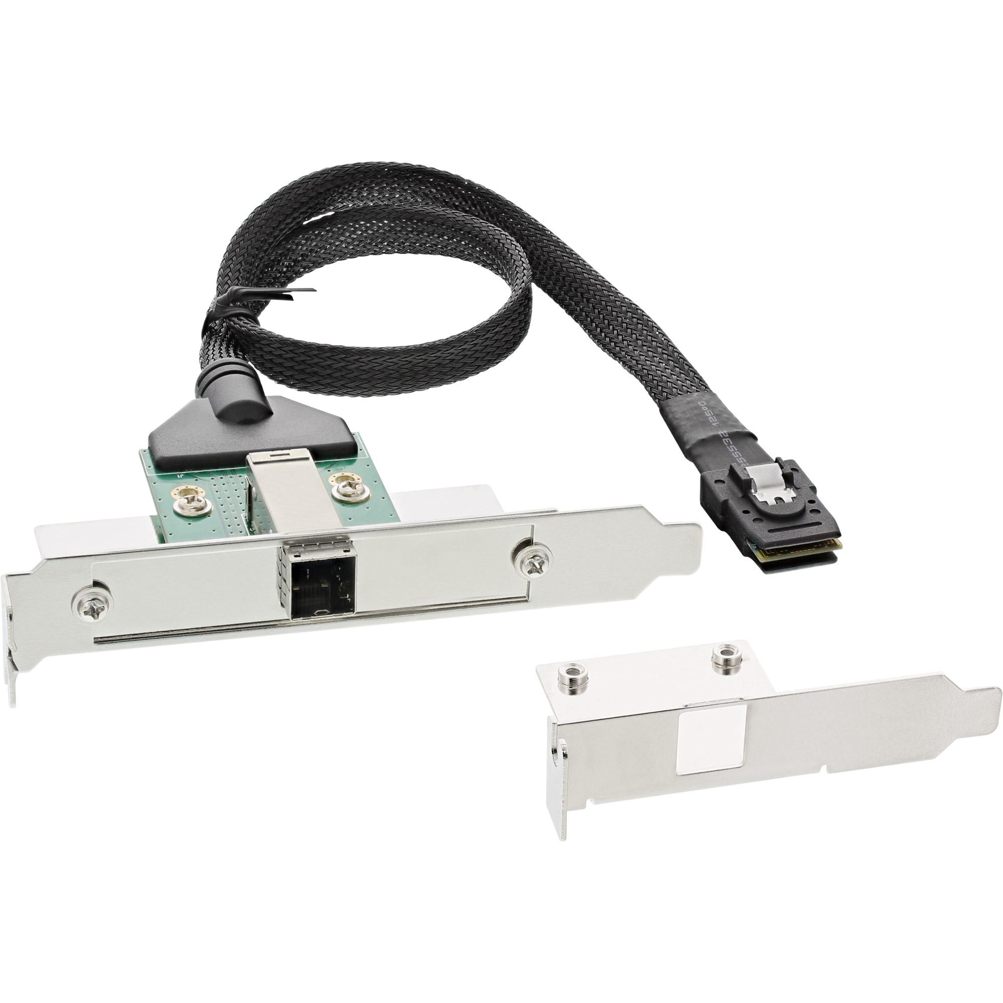 InLine® SAS HD Slotblech PCI + 50p Centr., mit Kabel, ext. SFF-8644 auf int. SFF-8087, 0,5m